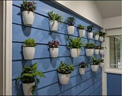 Set of 7 Self watering Plant Flower Pot Wall Hanging Plastic Planter Home Garden
