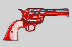 Andy Warhol Gun Giclee Art Paper Print Art Works Paintings Poster Reproduction