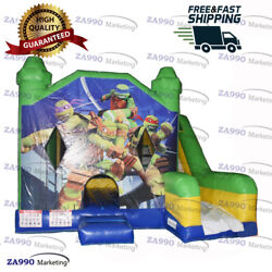 13x13ft Inflatable Teenage Mutant Ninja Turtles Bounce House With Air Blower