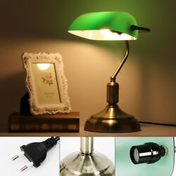 220V Nostalgic Retro Table Lamp Desk Lamp Library Light Green E27 Brand USA