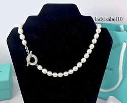 And Co. Silver Ag 925 New Version Toggle White Pearl 16 Necklace  20728a