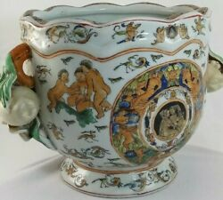 Chinese Rare Porcelain Flower European Style Chinoiserie Angels Play