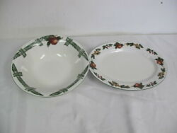 Cades Cove Collection Apples Serving Bowl And Oval Platter