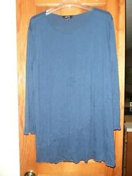 COMFY USA navy blue crinkled layered tunic. Size XL. Cute! $38.99