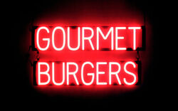 Spellbrite Ultra-bright Gourmet Burgers Neon-led Sign Neon Lookled Performance