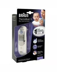 Braun Digital Ear Thermometer ThermoScan 5 IRT6500 FOR KIDS amp; ADULTS NEW