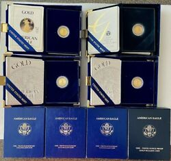 4- 5 Proof American Gold Eagle Coins With Original Box And Coa