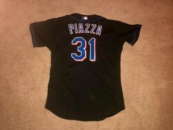 Mike Piazza 2003 Game Worn New York Mets Home Alternate Jersey Dave Miedema Loa