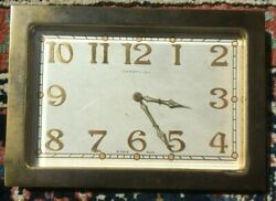 1920s And Co Clock Working Swiss Brass Art Deco Eight Day Antique