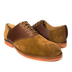 Polo Mens Orval Suede Derby Oxford Lace Up Shoes Brown Msrp 165
