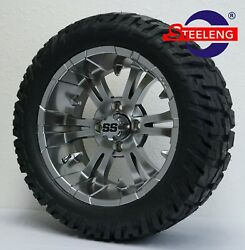 Golf Cart 14 Magnetic Vampire Wheels/rims And 22 And039gatorand039 All-terrain Dot Tires