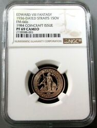 1936 / 1984 Straits 200 Minted 1 Sovereign Edward Viii Ngc Proof 69 Cameo