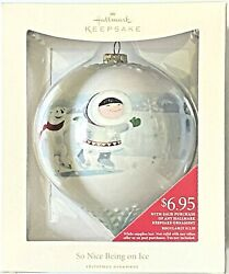4 Hallmark 2008 So Nice Being On Ice Frosty Friends Christmas Tree Ornaments