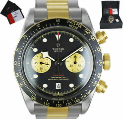 NEW 2020 Tudor Black Bay Chronograph 79363N Two-Tone 18K Yellow Gold Stainless