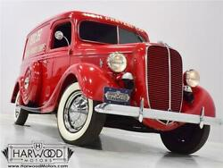 1937 Ford Panel Truck  1937 Ford Panel Truck  28615 Miles Red Panel delivery 221 cubic inch V8 Manual
