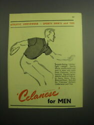 1948 Celanese Fabric Ad - Athletic Underwear Sports Shirts And Ties