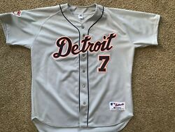 Vintage Authentic Ivan Rodriguez Detroit Tigers Jersey Size 52 Grey Russell
