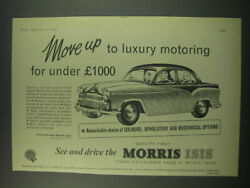 1957 Morris Isis Ad - Move Up To Luxury Motoring For Under £1000