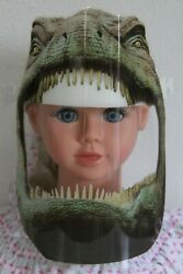 Dinosaur Kids Clear Face Shields Fits Most Children 4 14 Covering Child TRex $3.49