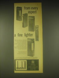 1962 Dunhill Rollagas Cigarette Lighter Ad - From Every Aspect A Fine Lighter