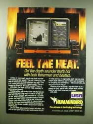 1987 Humminbird Lcr 4000 Fish Finder Ad - Feel The Heat. Get The Depth Sounder