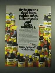 1987 Ortho Lawn And Garden Products Ad - Means Dead Bugs