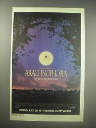 1990 Arachnophobia Movie Ad - Eight Legs Two Fangs And An Attitude