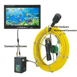 1080p Hd Dual Lens Endoscope 9inch Inspection Dvr Video Camera Sewer Pipeline