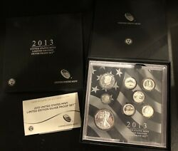 Investment Lot Of 6 2013 Us Mint Limited Edition Silver Proof Sets - In Mint Box