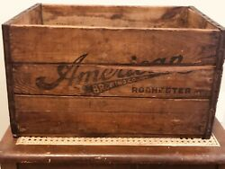 Vintage American Brewing Co Rochester Ny Beer Crate