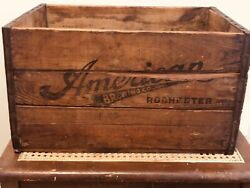 Vintage American Brewing Co Rochester, Ny Beer Crate