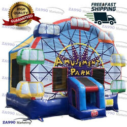 13x13ft Inflatable Ferris Wheel Amusement Park Bounce House With Air Blower