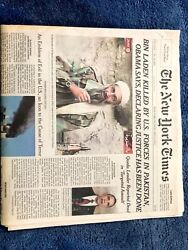 Newspaper The New York Times Late Edition Andnbsposama Bin Laden Killed May 2 2011