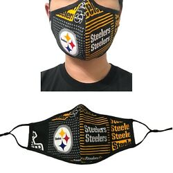 Pittsburgh Steelers NFL Football Quality Fabric Face Mask Washable Cotton USA  $11.50