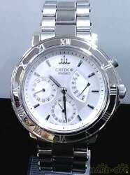 Seiko Credor 4s77-0020 Day Date Stainless Steel Automatic Mens Watch Auth Works