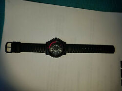 Juicy Couture Black Rubber Strap Watch-minor Wear+tear-see Photos. Hard To Find