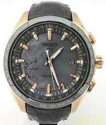 Seiko Astron Sbxb105 Date Box Solar Mens Watch Authentic Working