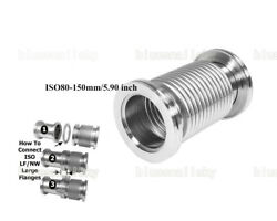 Us Wholesale Bellows Hose Iso80-150mm/5.90 Inch Flange Vacuum Flexible Ss304