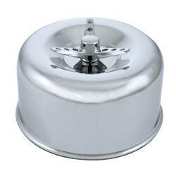 2-5/16-in Single Barrel Chrome Short Neck Smooth Air Cleaner With 3-wing Screw