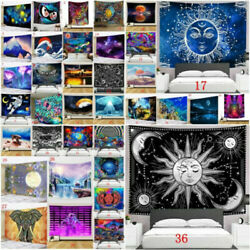 Space Psychedelic World Tapestry Wall Hanging Trippy Tapestries Room Art Decor