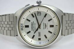 Citizen Seven Star Acss 52704-y 23 Jewels Deluxe Monthly Automatic Mens Watch