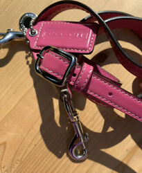 Coach Fuchsia Leather Shoulder Replacement Strap Hangtag Lobster Claw Silver $17.49