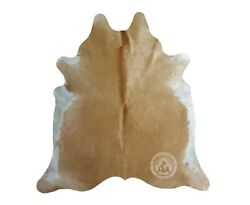 Acid Wash Turquoise On Brindle Cowhide Rug Approx. Size: 5.5#x27; x 7.5#x27; FT