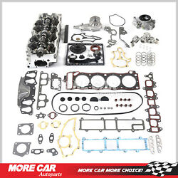 Head Gasket Timing Chain Oil Water Pump Cylinder Head Set Fit 85-95 Toyota 2.4l