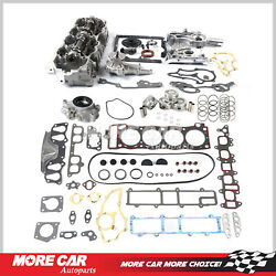 Head Gasket Timing Chain Cover Oil Water Pump Cylinder Head Set Fit 85-95 Toyota