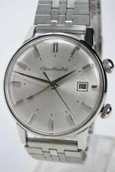 Citizen Alarm Date Vintage Stainless Steel Manual Winding Mens Watch Authentic