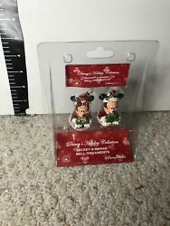 New Disney Parks Mickey And Minnie Mouse Jingle Bell Christmas Ornaments