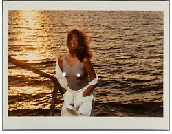 Original 1974 Photo Carly Simon 12-1/2 X 18-1/2 Signed By Norman Seeff