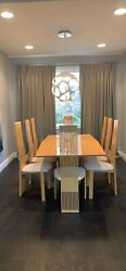 Ello Solid Wood Dining Room Table And 8 Chairs