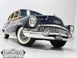 1953 Buick Roadmaster  1953 Buick Roadmaster  75358 Miles Imperial Blue Woody Wagon 322 cubic inch V8 A
